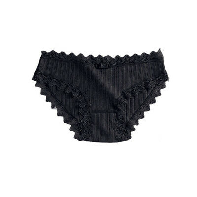Cotton Underwear Lace Bowknot Briefs Sexy Lingerie Simple Causal Panties Women