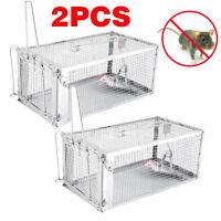 2pcs Rat Trap Rodent Control Mice Mouse Catch Animal Live Cage Door Latch Medium
