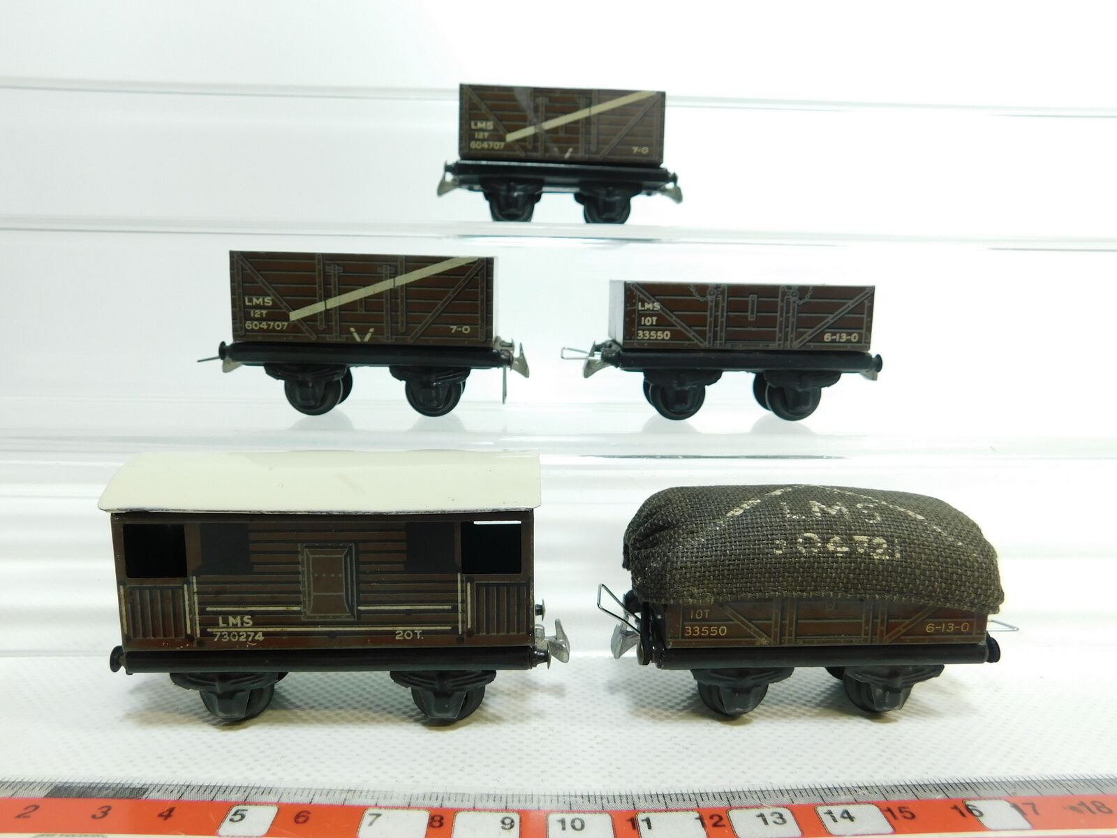 Bi631-0,5 x TTR   Trix Twin RAILWAYS H0 DC TIN GOODS WAGONS