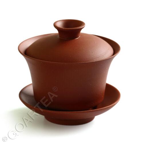 90ml Red Chinese YiXing ZiSha rare Pottery clay GaiWan Gongfu Tea Cup /& Saucer