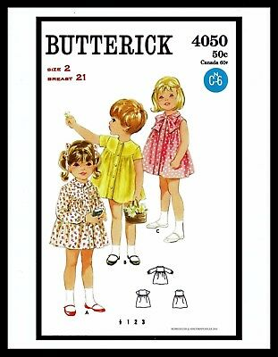 McCall 1421 Sewing Pattern Twin Girl/'s SMOCKED BOW DRESS FROCK Toddler ~1~ 40/'s