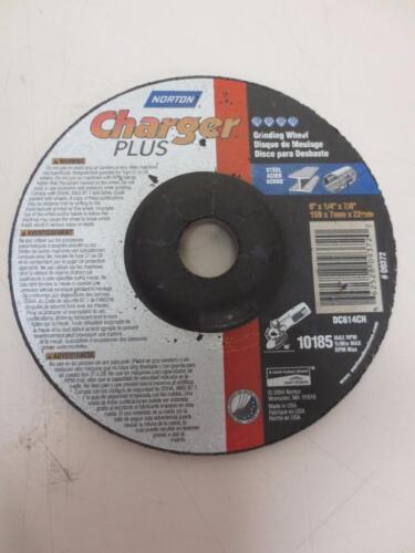 "Norton Charger Plus Abrasive Wheel 6/"" x 1//4/"" x 7//8/"" Grinding 10185 DC614CH 09372"