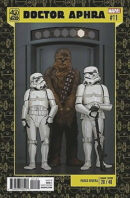 STAR WARS DOCTOR DR APHRA 9 BROWN 40th ANNIVERSARY VARIANT NM