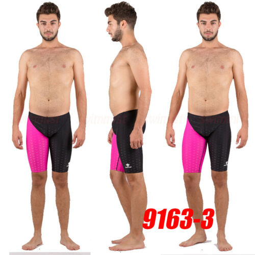 NWT HXBY 9163 MEN/'S SWIM SHORTS COMPETITION TRAINING RACING JAMMER ALL SIZE NEW!