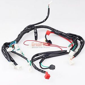 chinese atv utv quad 4 wheeler electric wire wiring harness 50cc image is loading chinese atv utv quad 4 wheeler electric wire