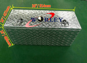 Car & Truck Cooling Systems 36X 18X 18 Aluminum Truck Pickup Underbody Underbed Tool Box Trailer Storage Car & Truck Parts