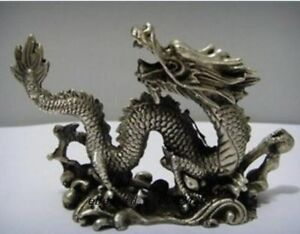 Old-Chinese-handwork-Copper-Carved-luck-dragon-Statues