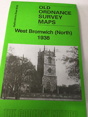 OLD ORDNANCE SURVEY MAP WEST BROMWICH NORTH 1885