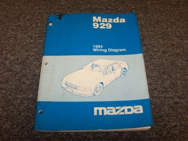 1994 Mazda 929 Sedan Original Electrical Wiring Diagram ...