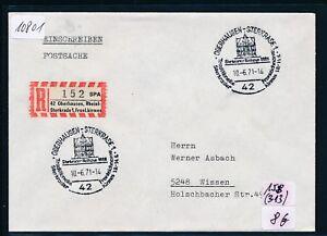 10801) Spécial R-mot Oberhausen Fronl. - Fête Foraine, Sst 10.6.71 Sur Postsache-afficher Le Titre D'origine