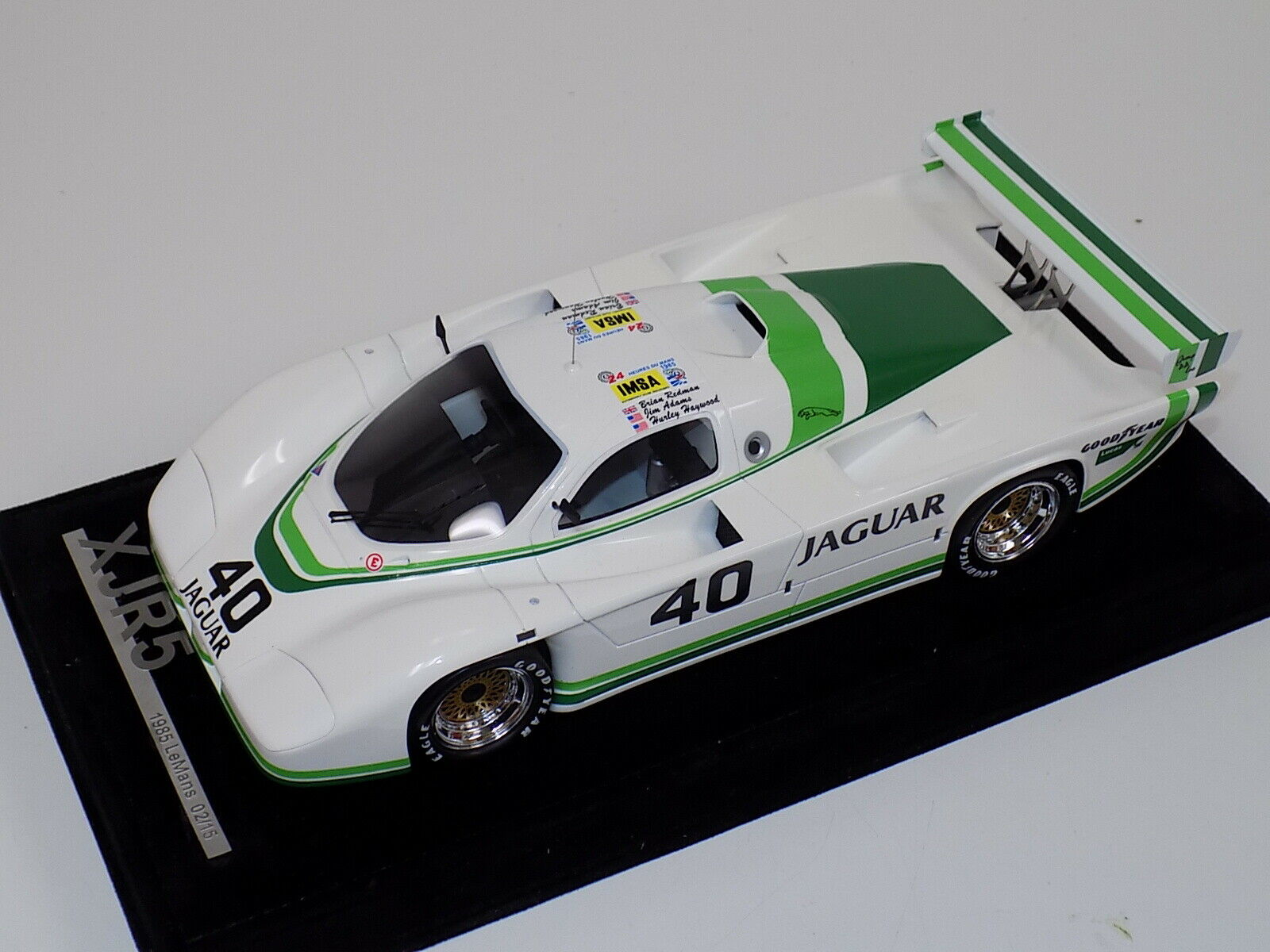 1 18 AB Models Jaguar XJR5 1985 24 Hours of LeMans Car  40 Night time Version
