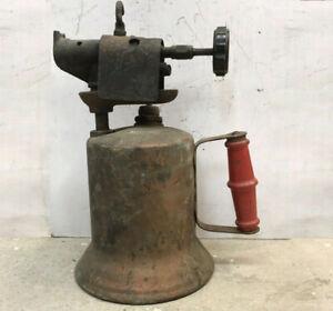 Vintage-Lenk-Brass-Blow-Torch-Industrial-Steampunk-Man-Cave
