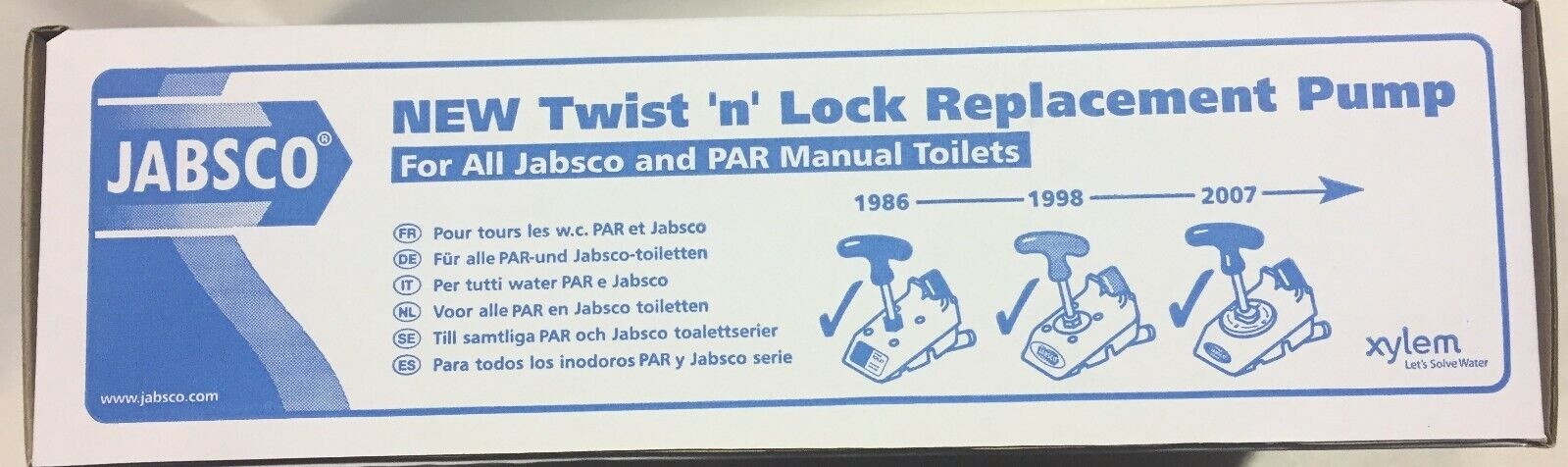 New SS22 Jabsco Twist /'N/' Lock Pump Assembly For Jabsco Marine Toilets