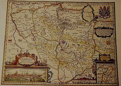 Historische Landkarte Bistum Osnabrück Fürstenau Ippenbüren Melle Bramsche 1658 Klar Und GroßArtig In Der Art
