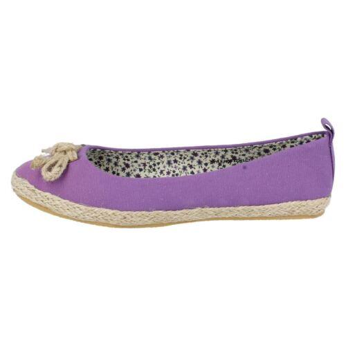 Ladies F2234 Purple or Fuchsia textile ballerina pumps   by SPOT ON   £2.99