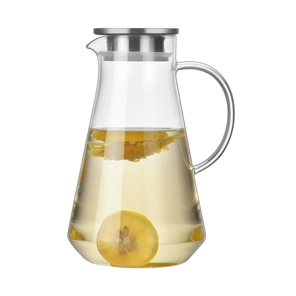 Glass Water Pitcher Borosilicate Heat Resistant Kettles 1.5