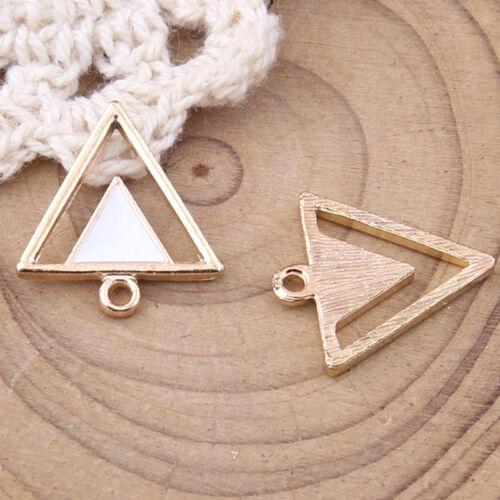 Encantos de Esmalte Triángulo Colgante Dangle Cuentas Orfebrería colgantes pequeños 1042Y