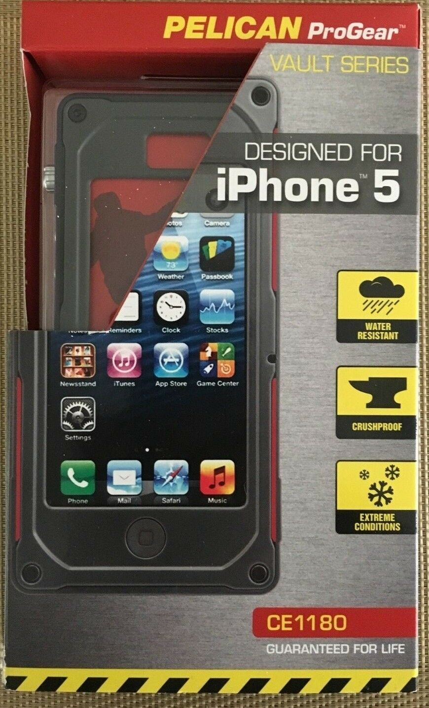 timeless design cc493 bf279 Pelican ProGear CE1180 Vault Case for iPhone 5 5s Protective Water Resistant