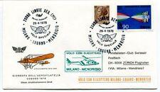 FFC 1978 Volo Speciale con Elicottero Milano Linate Lugano Mendrisio