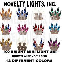 50 Foot Outdoor Christmas Patio Mini Light String Lights-set Of 100 Mini Lights