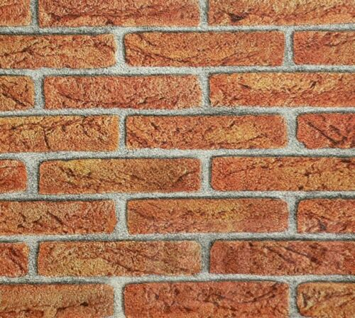 RED BRICK EFFECT FEATURE BRICK WALL DESIGN  WALLPAPER 276811 FROM  RASCH