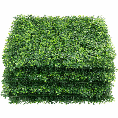 12pcs Artificial Plant Foliage Hedge Grass Mat Greenery Wall Fence Panel 24*16/""