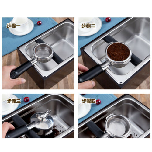 Stainless Coffee Machine Espresso Knock Box Flip Bang Recycle Rubber Bar NEW