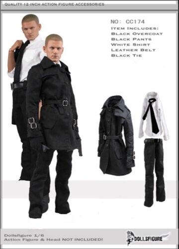 DOLLSFIGURE 1//6 Men/'s Windbreaker Overcoat White Shirt Set For 12/'/' Figure Doll