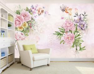 3D pink bluemenmuster 73 Tapete Wandgemälde Tapete Tapeten Bild Familie DE Summer