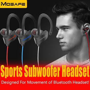 Wireless Bluetooth Headset Stereo Earphone Sport Headphone for iPhone Samsung LG