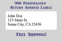 900 Large Printed Return Address Labels 1 X 2-5/8 Inch 1 X 2.625
