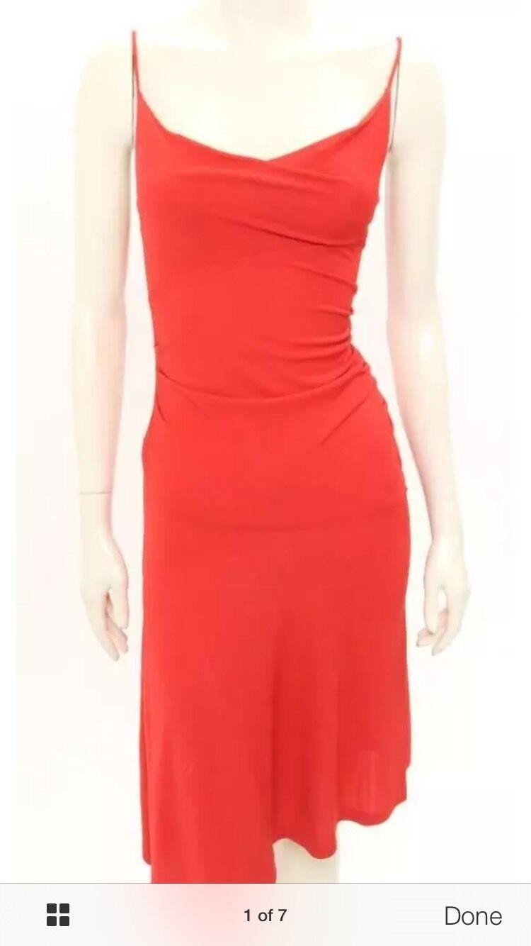 DVF DVF DVF Diane von Furstenberg Red Sleeveless Dress Size 4 6a5756