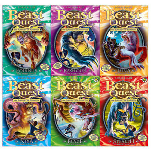 Beast-Quest-Series-4-The-Amulet-of-Aventia-19-24-6-Books-Collection-Set-New