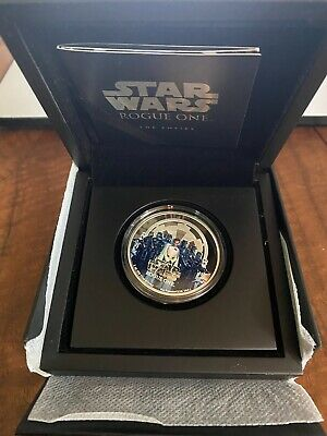 2017 NIUE $2 STAR WARS ROGUE ONE THE EMPIRE 1 oz  PROOF COIN .999 FINE SILVER