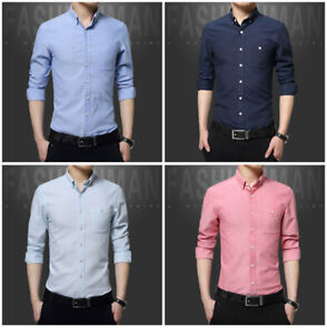 Fashion-Mens-Luxury-Casual-Stylish-Slim-Fit-Long-Sleeve-Casual-Dress-Shirts-Tops