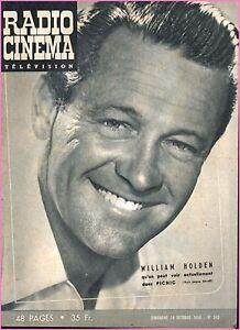▬►RADIO CINÉMA TÉLÉVISION 352 (1956) WILLIAM HOLDEN_JACQUELINE JOUBERT