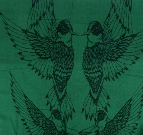 Schal grün schwarz by Ella Jonte Schal Adler Vogel Motiv Baumwolle Viskose new
