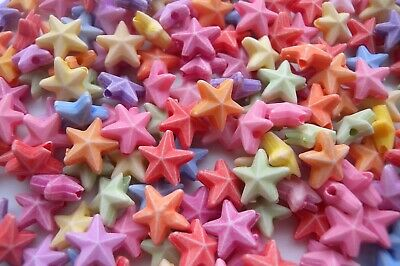200 MIXED PASTEL COLOUR STAR FISH BEADS  JEWELLERY CRAFT FREE SAME DAY P/&P