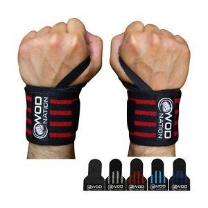 Workout Gloves Black Crossfit Large WOD Global Neoprene Padded Wrist Wraps
