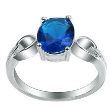 Fashion Women Jewelry Sapphire Gemstone 925 sterling silver Ring Size8  M424