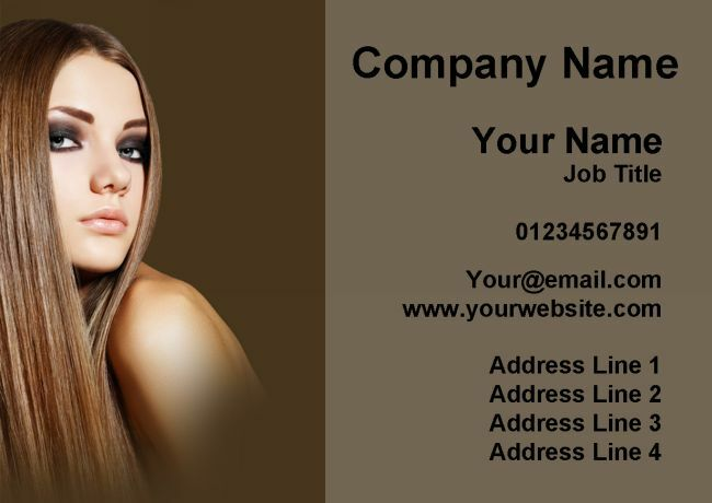 Hair And Beauty Salon Hairdresser Personalised Business Cards