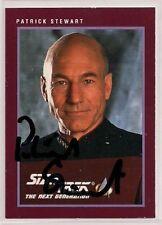 Star Trek Signed Card Auto 25th Anniversary Series 1 Picard Patrick Stewart v251