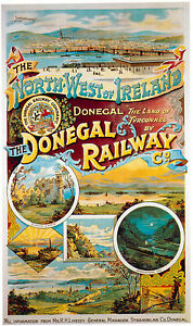 IRELAND-The-Donegal-Railway-Vintage-Railway-Poster-A1A2A3A4Sizes