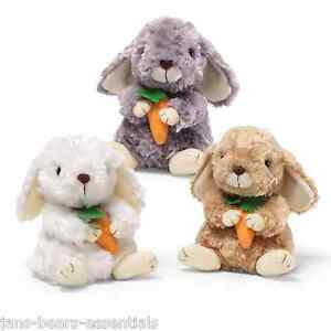 "Gund - Bunny with Carrot - 6"" - Grey"