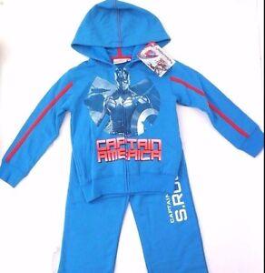 Camo Blue Marvel Boys Captain America Puffer