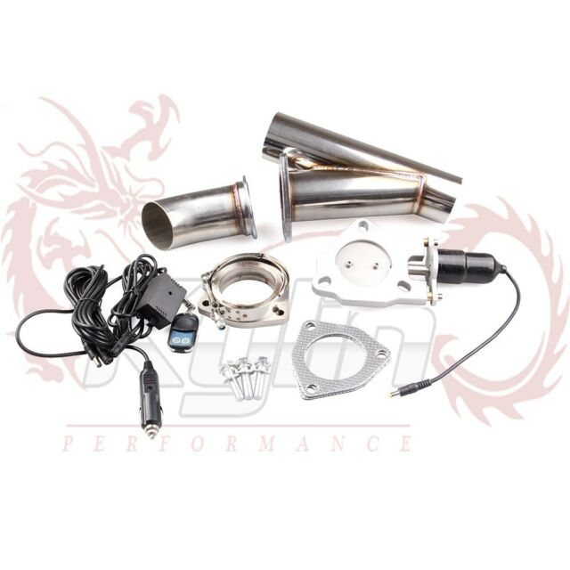 """2"""" ELECTRIC EXHAUST + REMOTE CATBACK/DOWNPIPE CUTOUT/E-CUT OUT VALVE SYSTEM KIT"""
