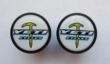 Yeti Cycles handlebar bike caps, Yeti Bike frame logo end plugs, Yeti bike caps