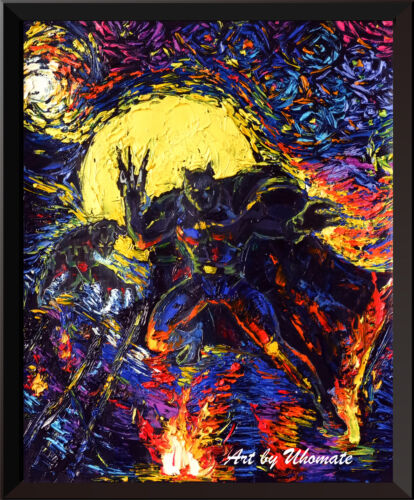 Black Panther Posters Starry Night Wall Decor Canvas Print A070