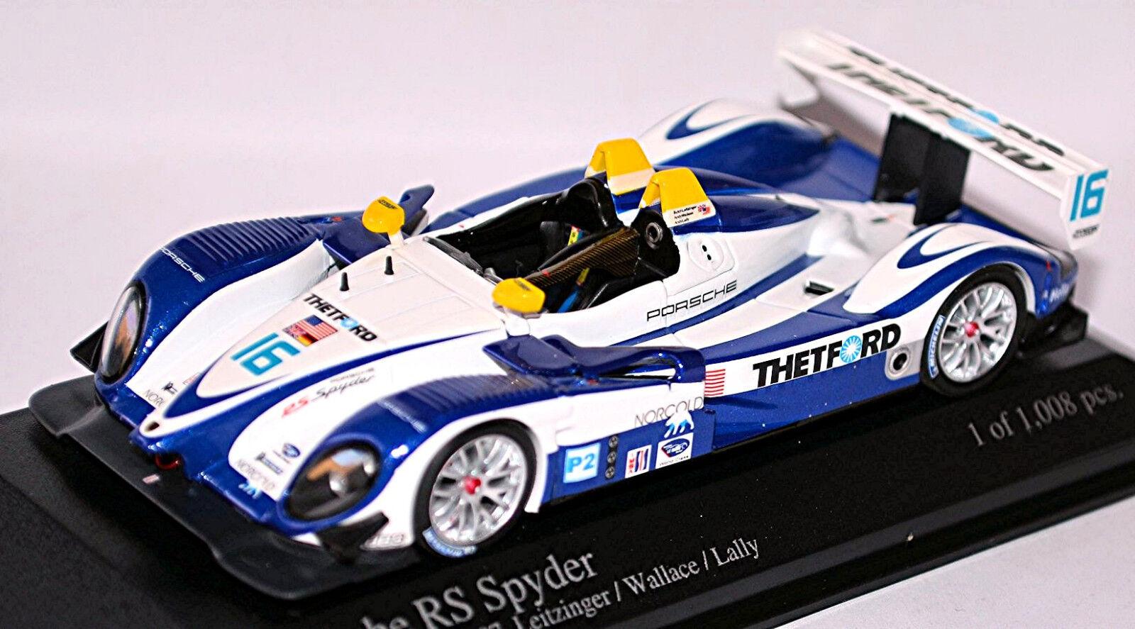Porsche RS Spyder ALMS Utah GP 2007  16 Leitzinger Wallace 1 43 Minichamps