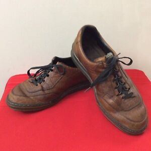 Mephisto-Casual-Oxford-Mens-Shoes-US-11-Brown-Leather-Sneakers-b60